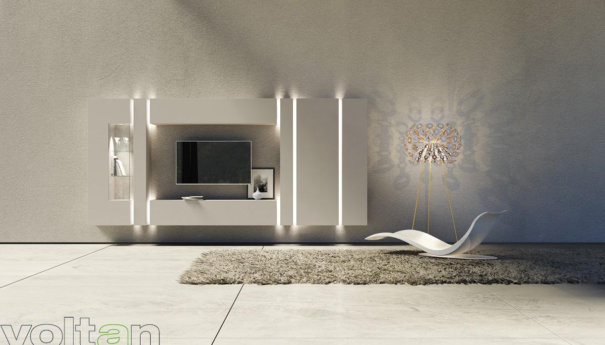 pareti attrezzate eleganti e belle