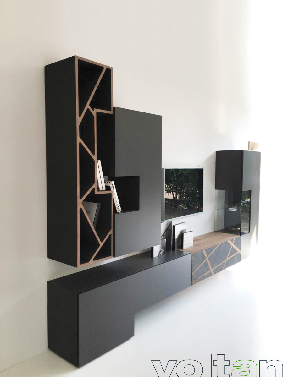 Parete attrezzata per soggiorno dal design moderno